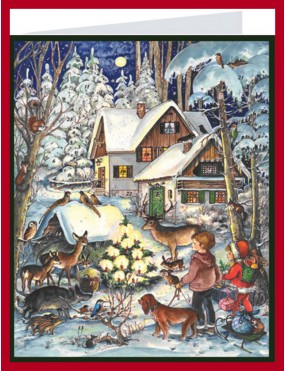 Advent Calendar Christmas Card