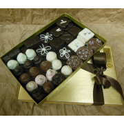 3 doz chocolates in gold box